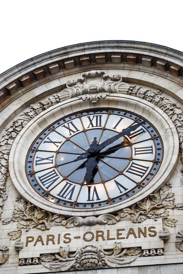 奥尔赛博物馆时钟在巴黎 免版税库存照片