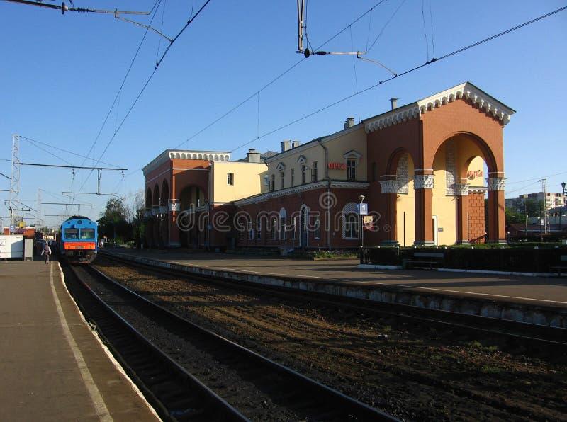 奥廖尔州市,俄罗斯的火车站 图库摄影