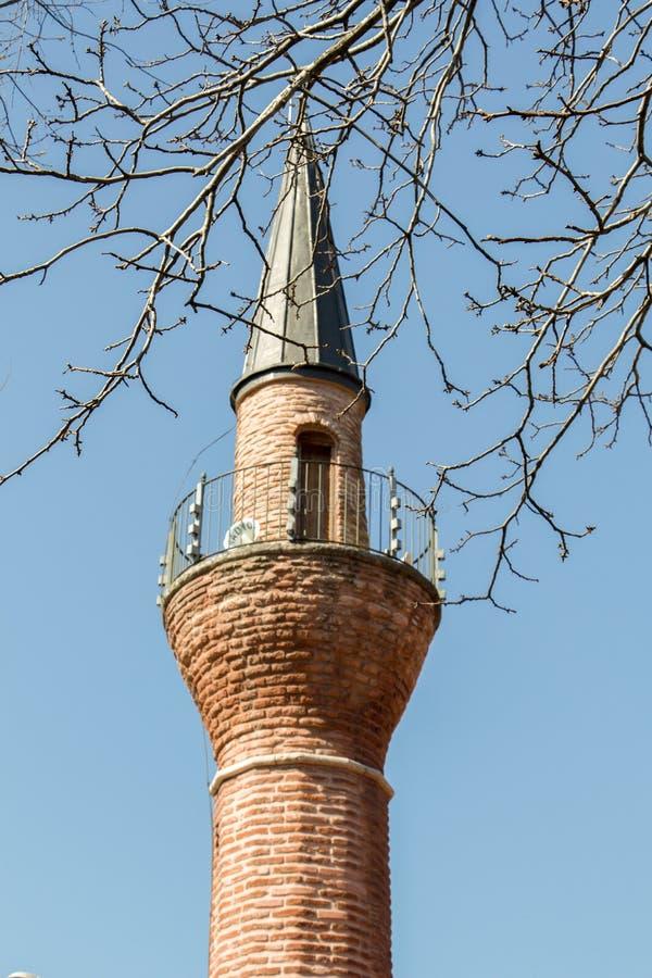 奥托曼样式清真寺的尖塔 库存图片