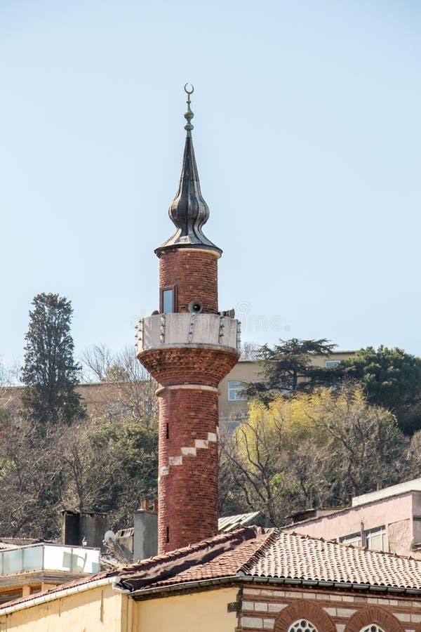 奥托曼样式清真寺的尖塔 免版税库存照片
