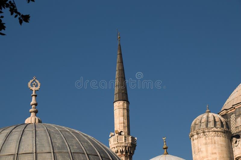 奥托曼清真寺尖塔视线内 库存图片