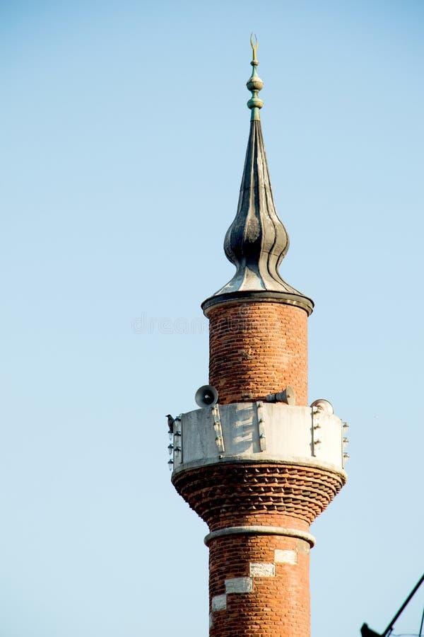 奥托曼清真寺尖塔视线内 免版税库存图片