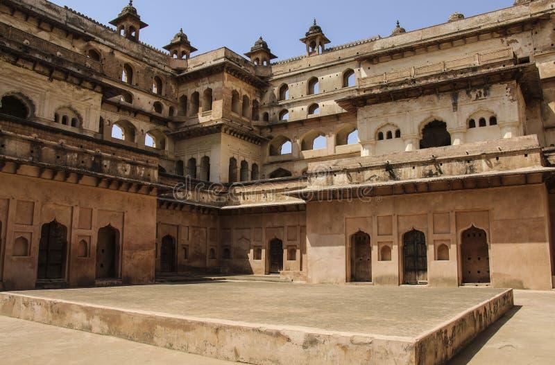 奥拉奇哈堡垒贾汉吉尔玛哈尔,奥拉奇哈,中央邦,印度 图库摄影
