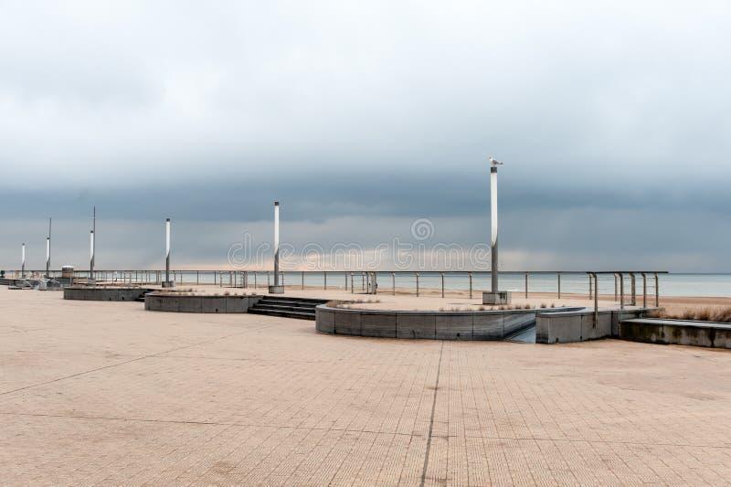 奥斯坦德堤堰 图库摄影