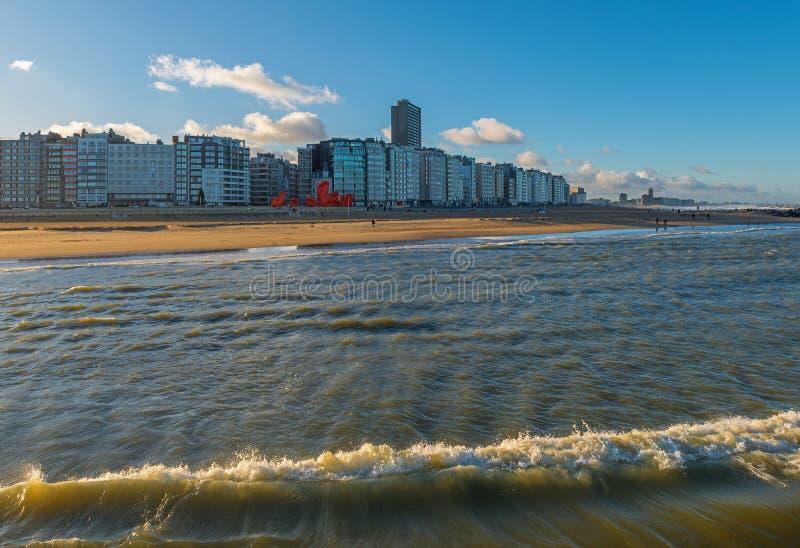 奥斯坦德市,比利时都市风景  免版税库存照片