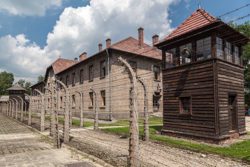 奥斯威辛集中营 免版税库存图片