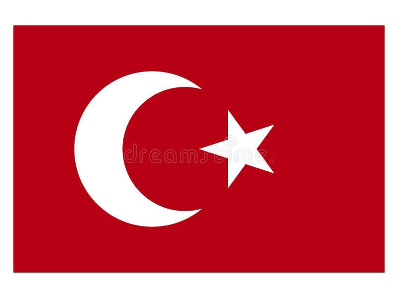 奥斯曼帝国的旗子 向量例证