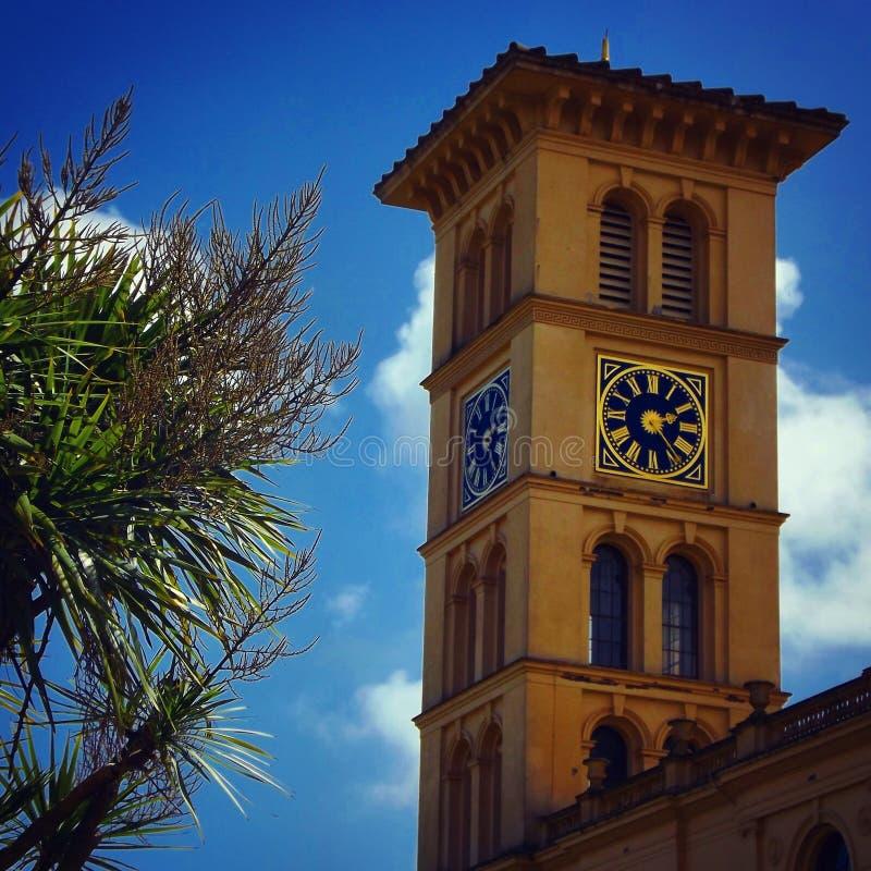 奥斯本议院尖沙咀钟楼,怀特岛郡 图库摄影