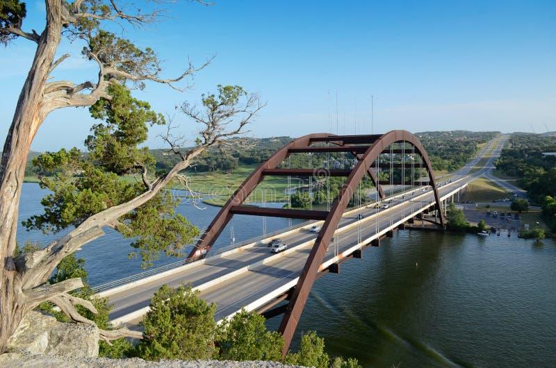 360奥斯汀桥梁 免版税库存照片