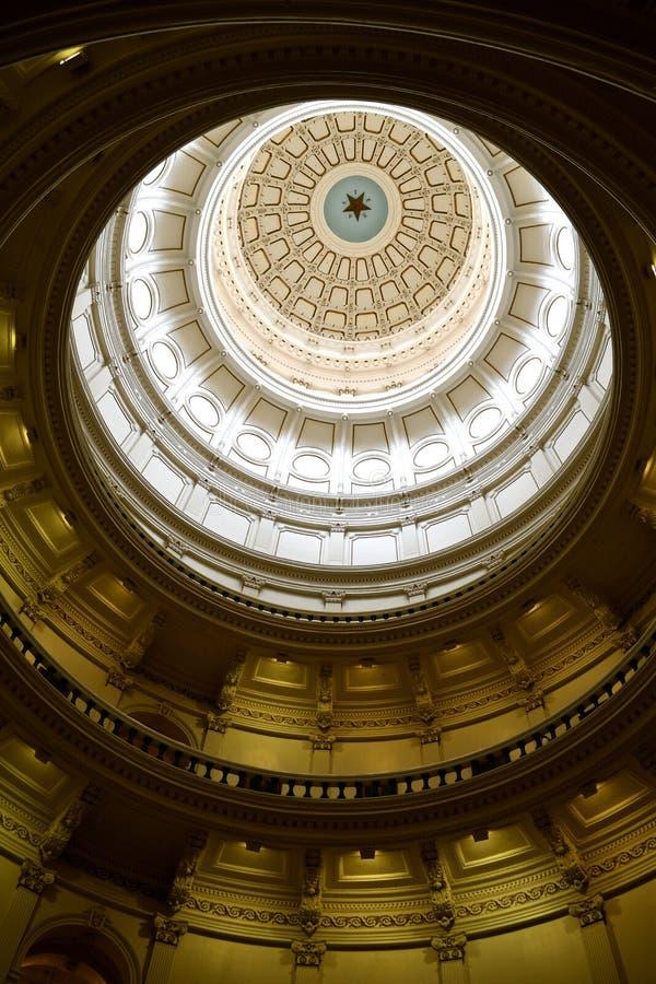奥斯汀状态国会大厦中央死命 免版税库存照片