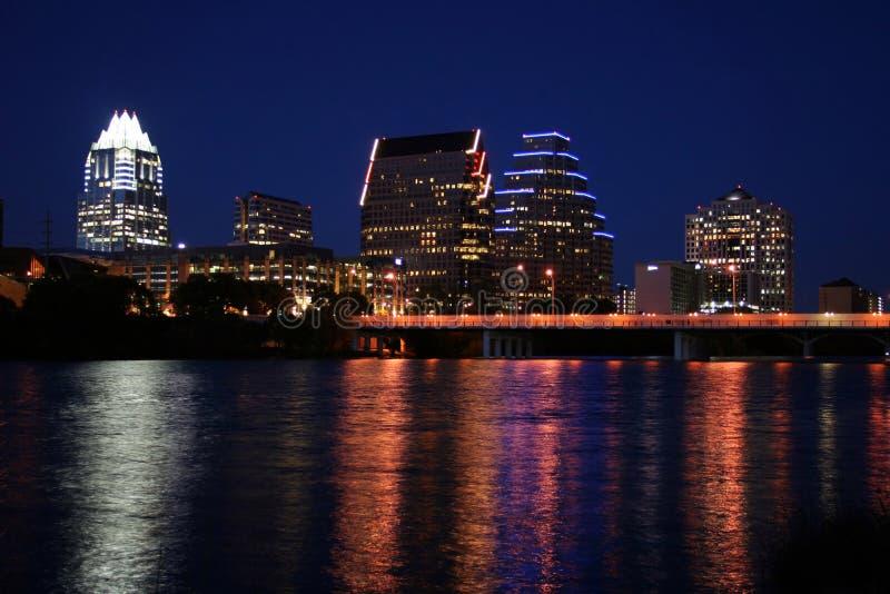 奥斯汀街市晚上得克萨斯 免版税库存图片