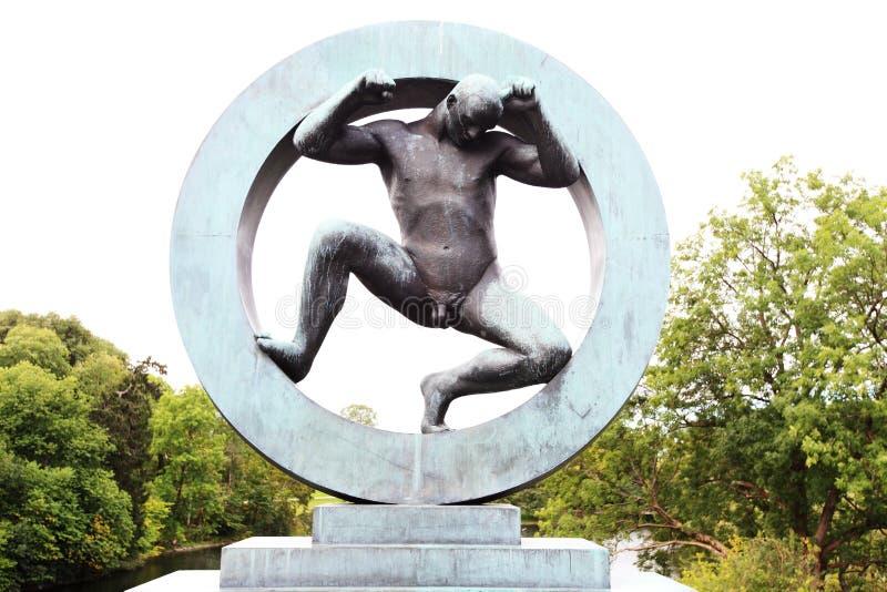 奥斯陆公园vigeland 免版税库存图片