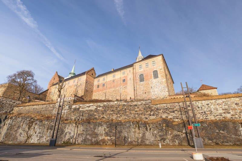 奥斯陆挪威,阿克舒斯堡垒 免版税库存图片