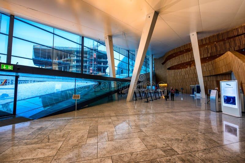 奥斯陆歌剧院的内部 免版税库存照片