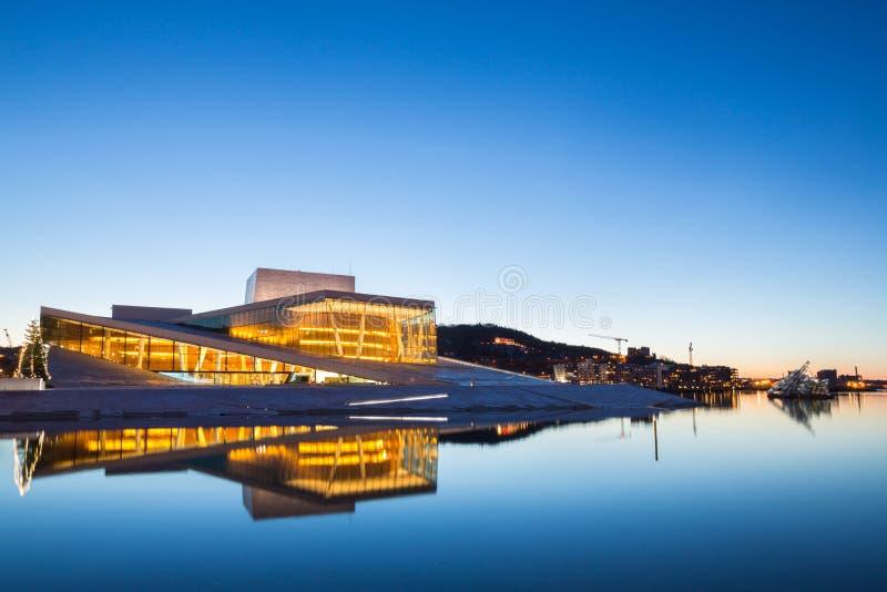奥斯陆歌剧院,挪威 免版税图库摄影