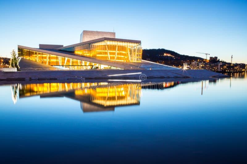 奥斯陆歌剧院 免版税库存照片