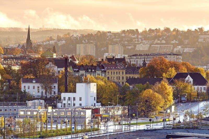 奥斯陆的早晨,挪威 库存照片