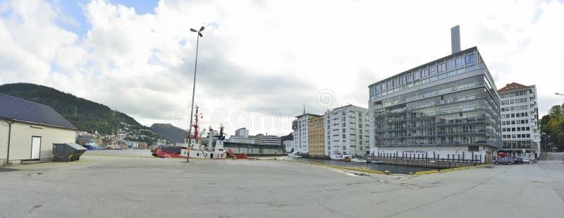 从奥斯陆街道的全景  免版税图库摄影