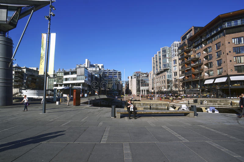 奥斯陆,挪威街道  库存图片