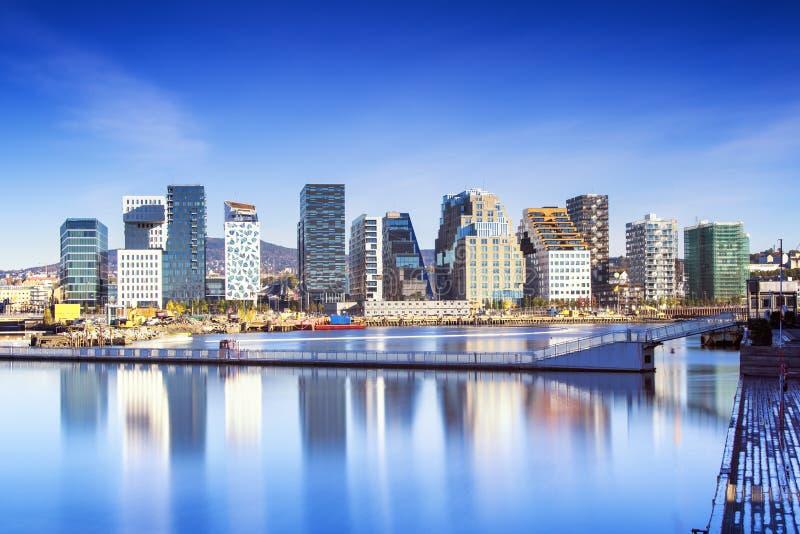奥斯陆,街市, Bjoervia挪威 免版税图库摄影