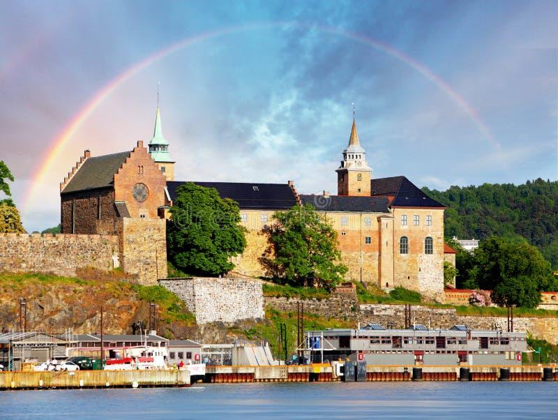 奥斯陆,阿克什胡斯堡垒,挪威 图库摄影