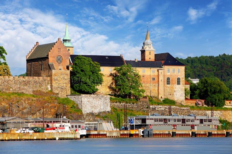 奥斯陆-阿克什胡斯堡垒,挪威 免版税库存图片