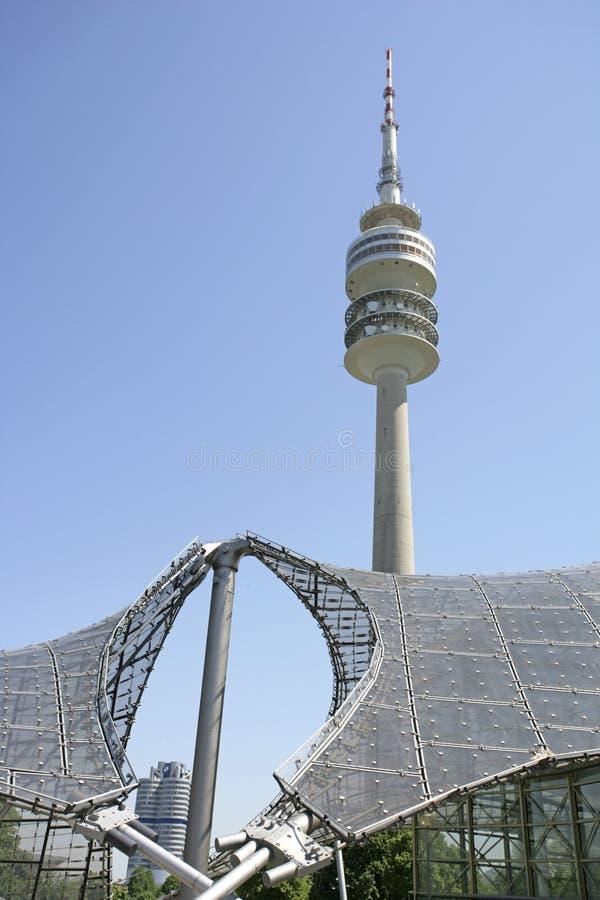 奥林匹亚公园在慕尼黑,巴伐利亚 免版税图库摄影