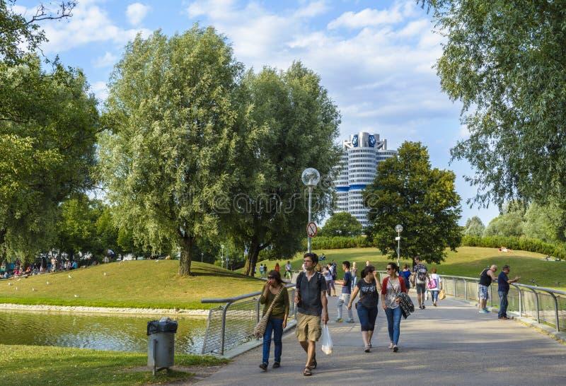 奥林匹亚公园慕尼黑 免版税库存图片