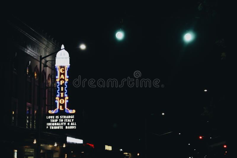 奥林匹亚夜 库存图片