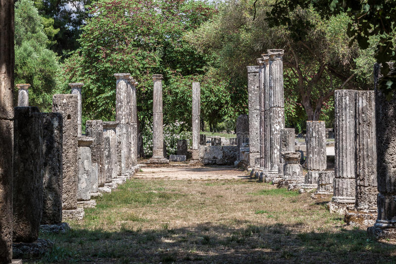 奥林匹亚寺庙希腊 免版税库存照片