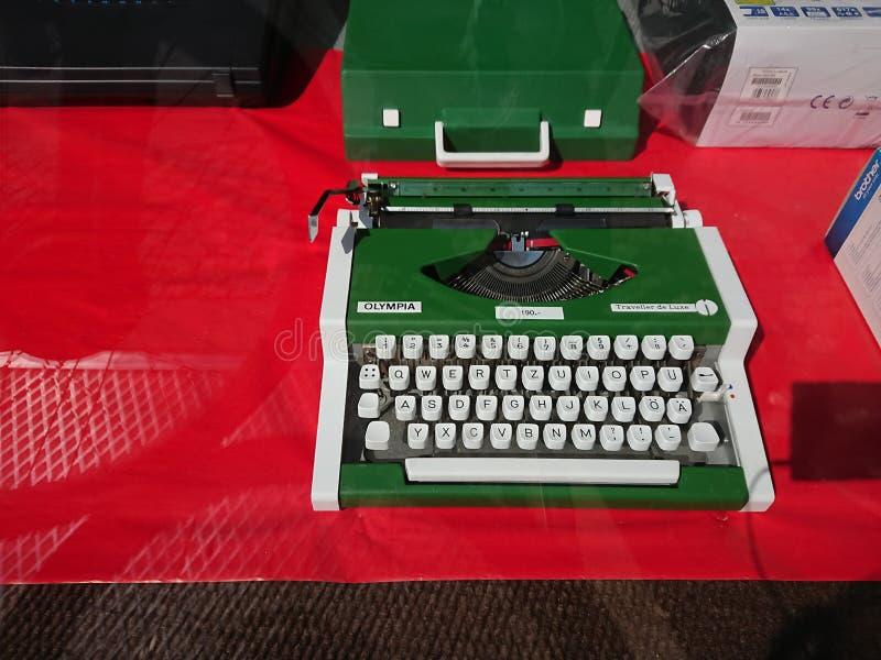 奥林匹亚打字机 库存照片