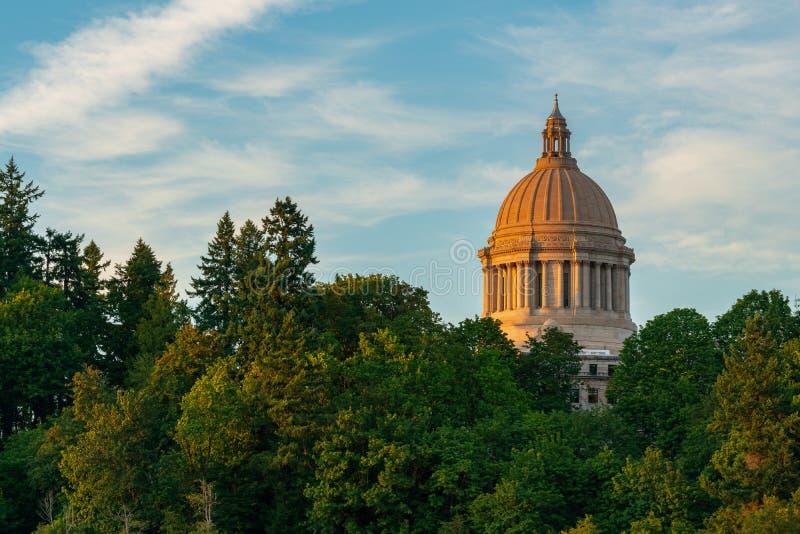 奥林匹亚的华盛顿华盛顿州议会大厦 免版税图库摄影