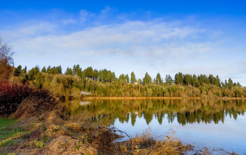 奥林匹亚的湖 库存照片
