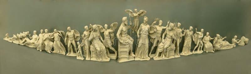 奥林匹亚诸神考古博物馆 向量例证