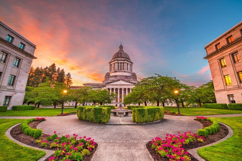 奥林匹亚,华盛顿,美国状态国会大厦 免版税库存照片