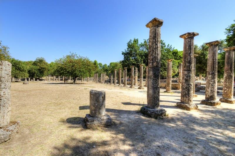 奥林匹亚,希腊古老站点  库存照片