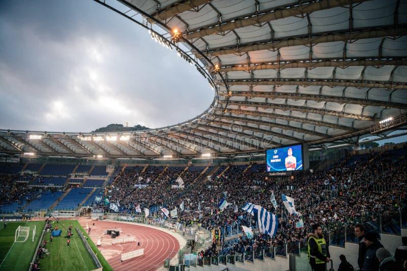 奥林匹克体育场在罗马,意大利 库存照片