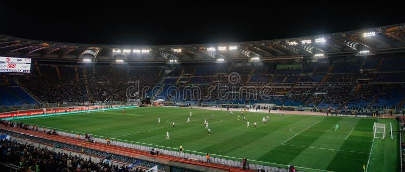 奥林匹克体育场在罗马,意大利 免版税库存图片