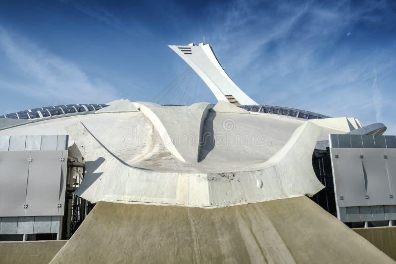 奥林匹克体育场蒙特利尔边 免版税库存照片