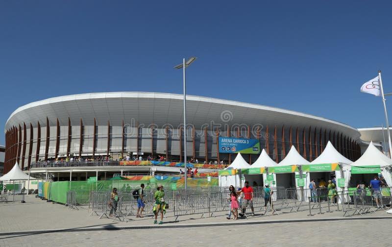 奥林匹克公园的Carioca竞技场3在里约热内卢 免版税库存图片
