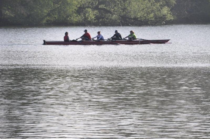 奥林匹克划艇 库存图片