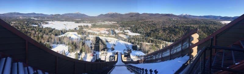 奥林匹克滑雪培训中心 免版税库存照片