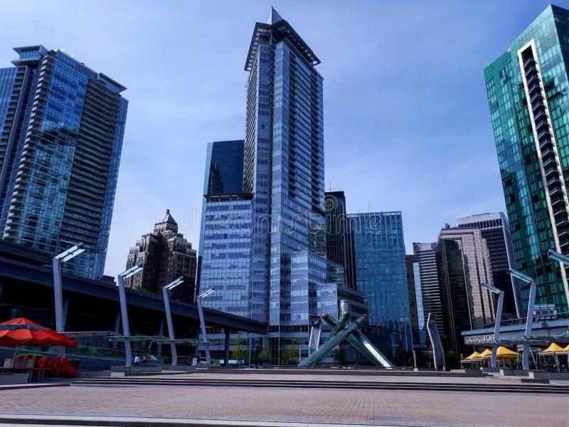 奥林匹克火炬在温哥华 库存图片