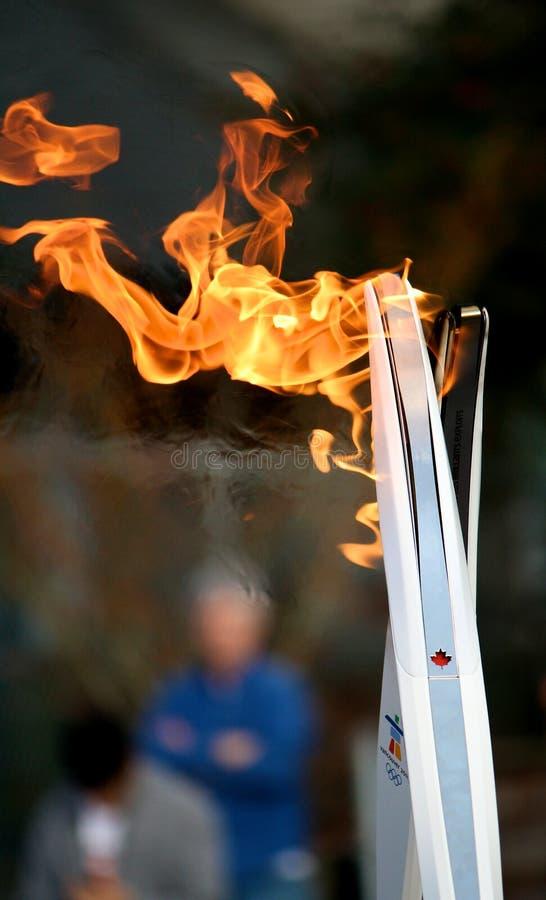 奥林匹克火炬 免版税库存照片