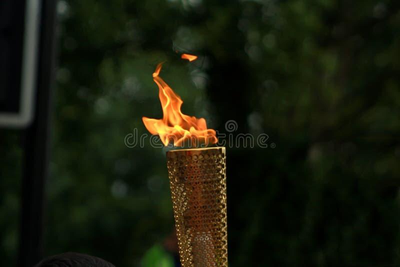 奥林匹克火炬 库存照片