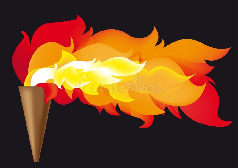 奥林匹克的火焰 库存例证