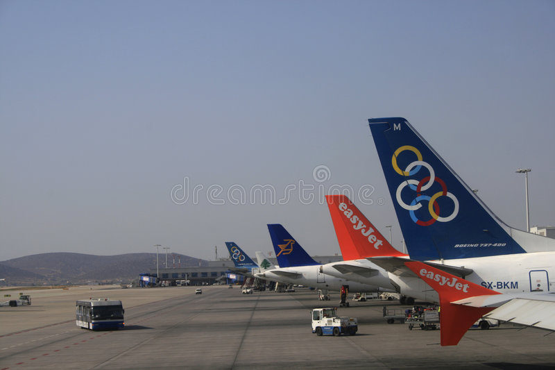 奥林匹克的航空公司 库存照片