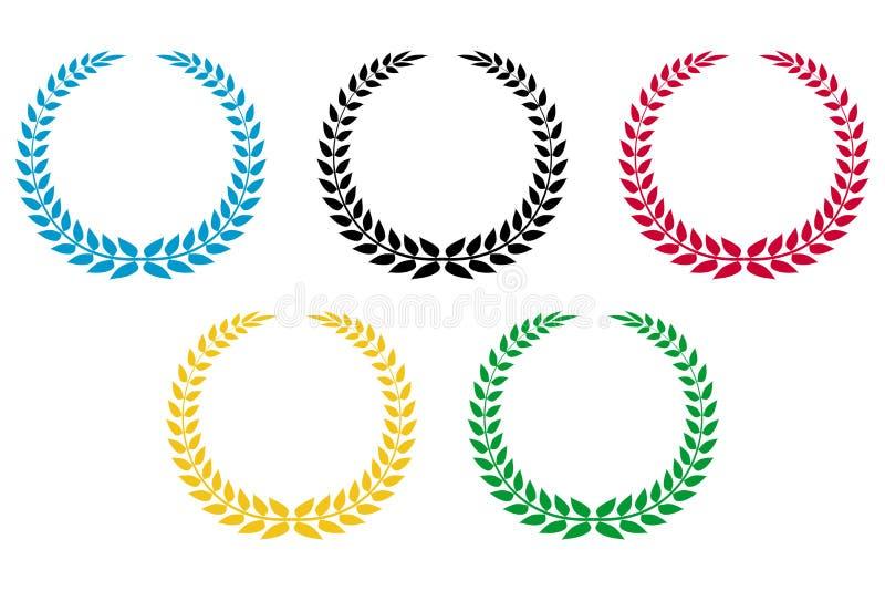 奥林匹克花圈 向量例证