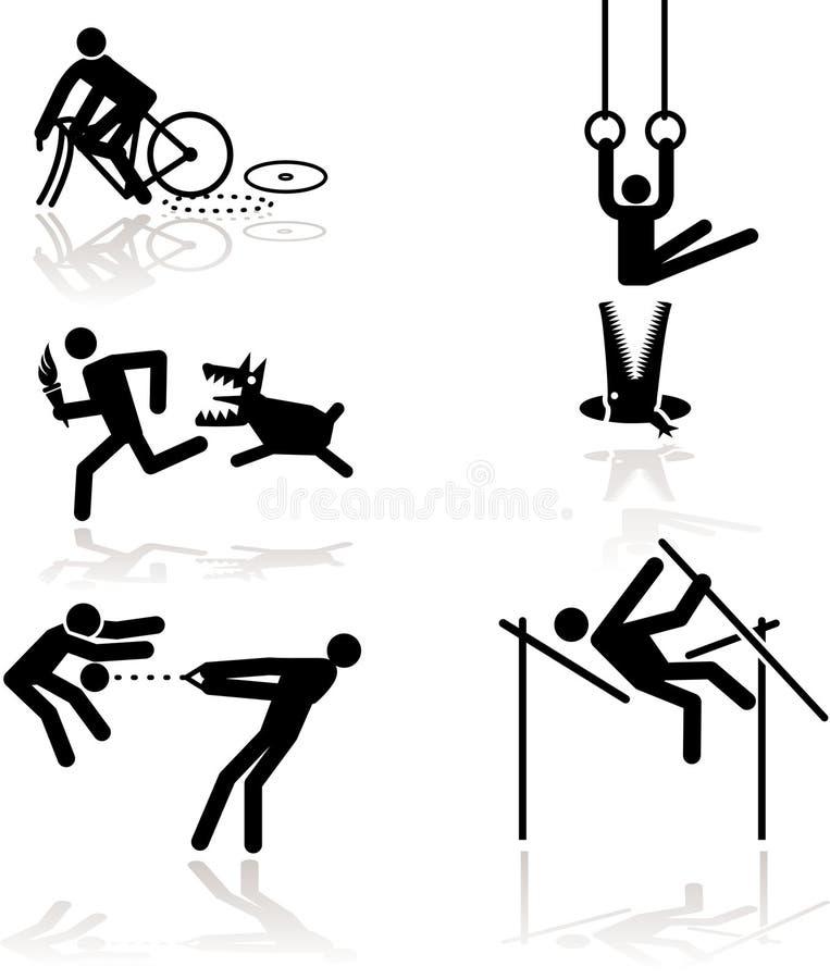 奥林匹克1比赛的幽默 库存例证