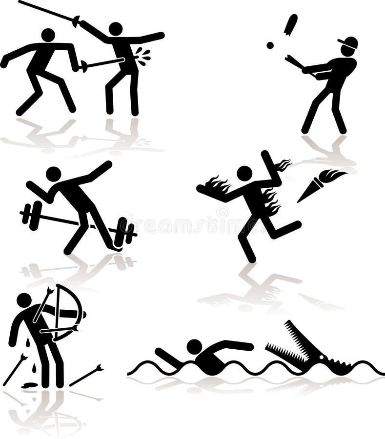 奥林匹克2场比赛的幽默 库存例证